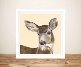 Woodland Critter White-tailed Deer II by Patsy Ducklow Canvas Painting Print