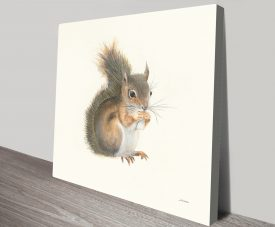 Woodland Critter Squirrel by Patsy Ducklow Paint to Print Wall Art