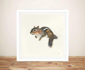 Woodland Critter Chipmunk by Patsy Ducklow Painting Print