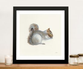 Woodland Critter Squirrel II by Patsy Ducklow Canvas Wall Art