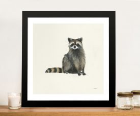 Woodland Critter Raccoon by Patsy Ducklow Canvas Printers