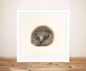 Woodland Critter Hedgehog by Patsy Ducklow Canvas Artwork