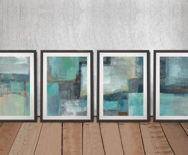 Buy Sea Foam Four Panel Canvas Wall Art