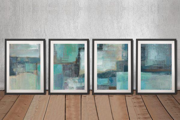 Buy Sea Foam Four Panel Canvas Wall Art