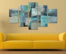 Sea Foam by Silvia Vassileva Five Panel Canvas Wall Art