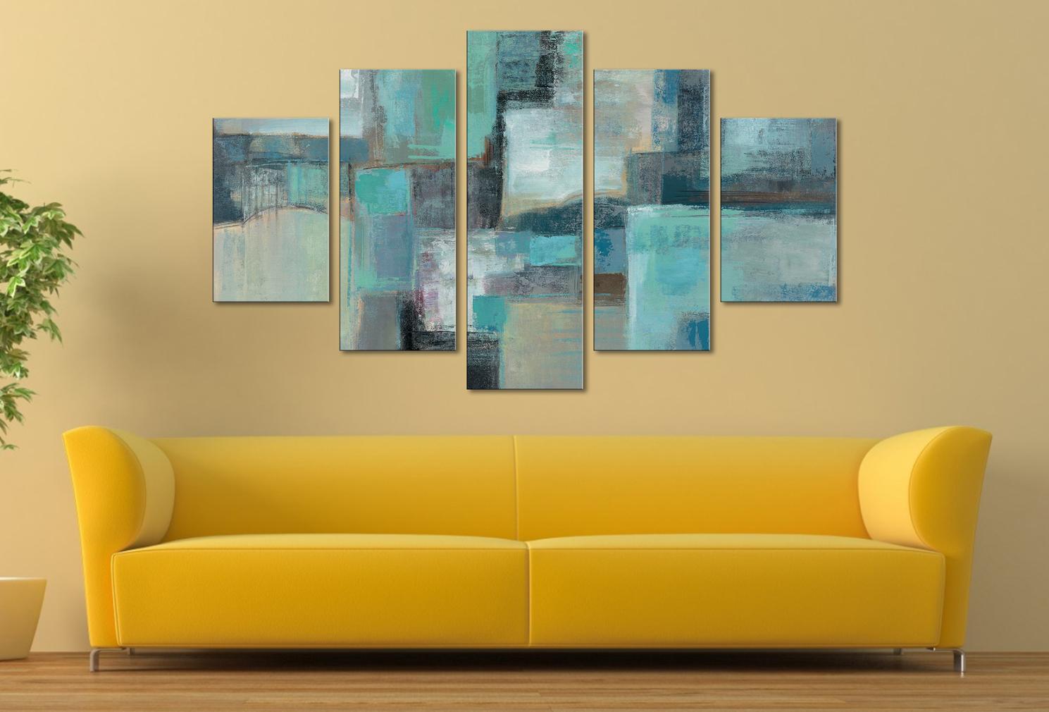 Sea Foam by Silvia Vassileva Five Panel Canvas Wall Art Caloundra ...