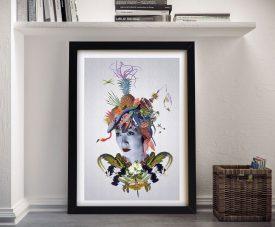 Vivid humanity Abstract Framed Wall Art