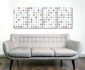 Damien Hirst Xylosidase 4 Split Canvas Art Prints