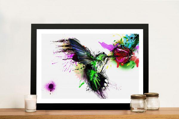 Hummingbird Watercolour Wall Art Print