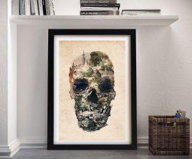 Skull Town Ali Gulec Framed Wall Art