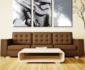 Stormtrooper In Motion Triptych Three Panel Canvas Photo Printing
