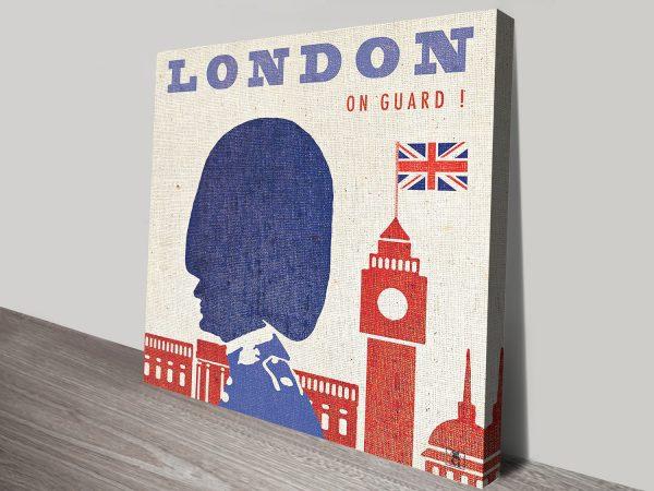Fabric Effect Wall Art Featuring London