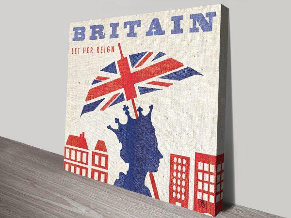 Vibrant London Themed Canvas Prints