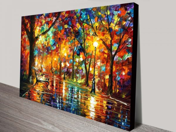 Colorful Night Palette Knife Painting Print by Leonid Afremov