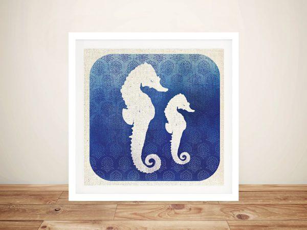 Watermark - Seahorse By Studio Mousseau Canvas Wall Art