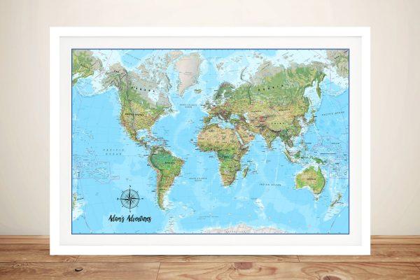 Framed Custom Map of Australia Cheap Online