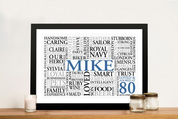Someone Special Custom Personalised Word Art Gift Idea