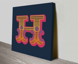 Carnival Letter H Canvas Prints Wall Art Online