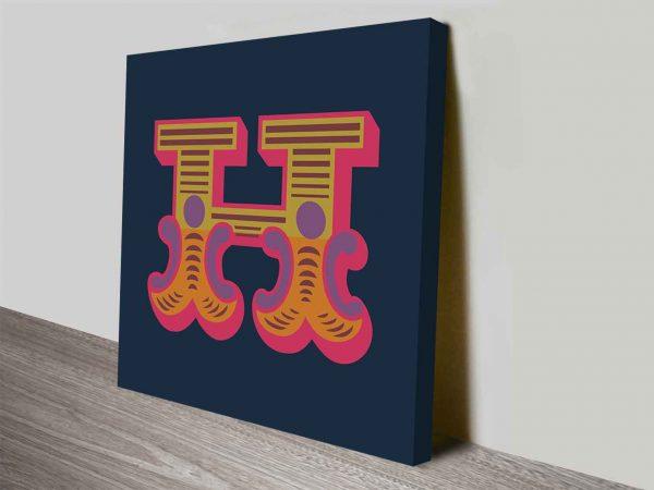 Carnival Letter H Canvas Prints Wall Art Online