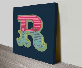 Carnival Letter R Typography Wall Decor Art