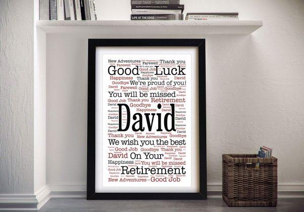 New Adventures Retirement Custom Word Art Gift Idea Australia