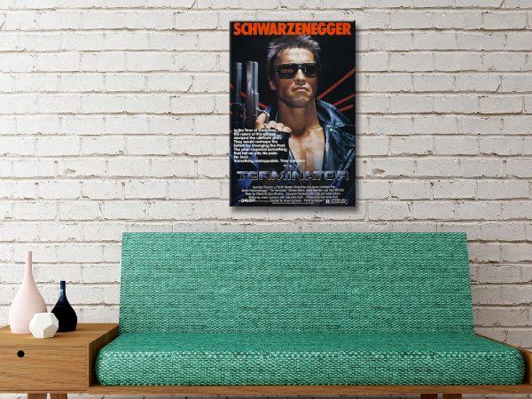 The Terminator Movie Poster Canvas Artwork