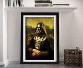 Vader Mona Lisa Framed Wall Art Print