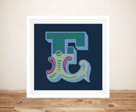 Carnival Letter E Canvas Wall Art Online