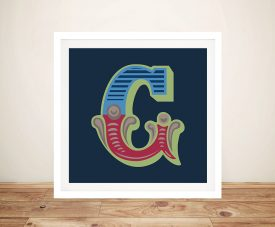 Carnival Letter G Prints On Canvas