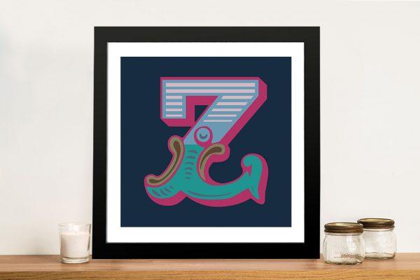 Carnival Letter Z Canvas Printing Online