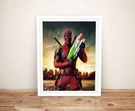 Deadpool - Water Pistol Canvas Art Online