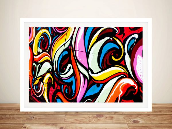 Colourful Graffiti Canvas Wall Art