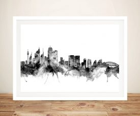 Sydney Australia Skyline Framed Wall Art Picture