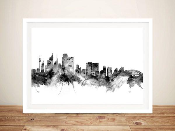 Sydney Australia Skyline Framed Wall Art Picture