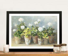 White Geraniums - Danhui Nai Pop Art