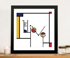 Futuracha - Believe Mondrian Typography Canvas Art