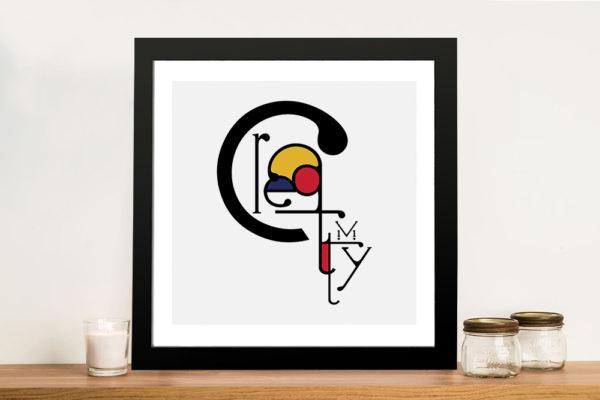 Futuracha - Creativity Mondrian Typography Canvas Art Prints