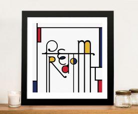 Futuracha - Freedom Mondrian Typography Prints Online
