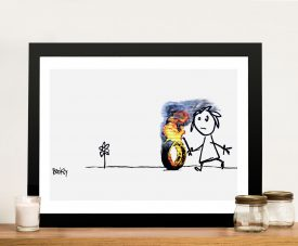 Kids tyres banksy Framed Wall Art