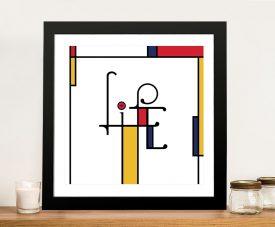 Futuracha - Life Mondrian Typography Canvas Art