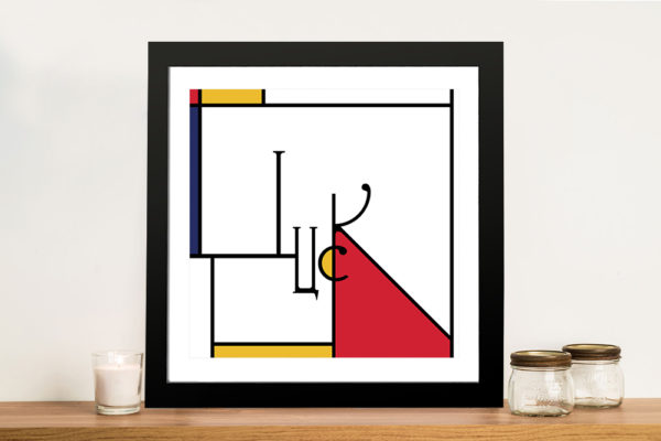 Futuracha - Luck Mondrian Typography Canvas Art Prints