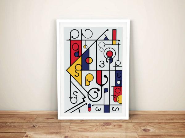 Futuracha - Mondrian Artwork ll Canvas Wall Art