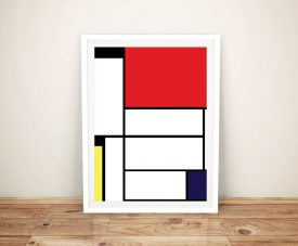 Mondrian Tableau I Framed Wall Art Picture Australia