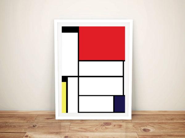Mondrian Tableau I Framed Wall Art Picture Australia