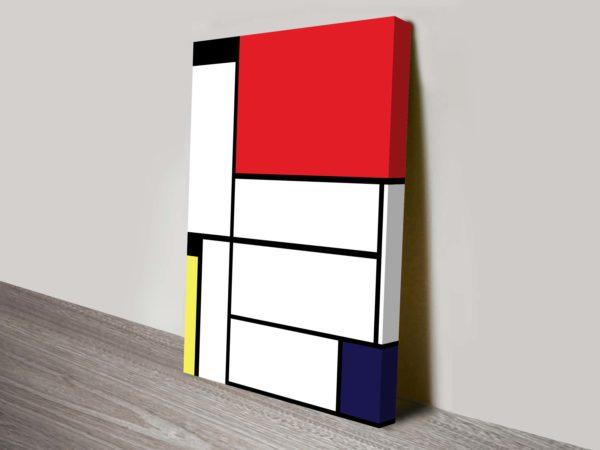 Mondrian-Tableau-I-Wall Canvas Print