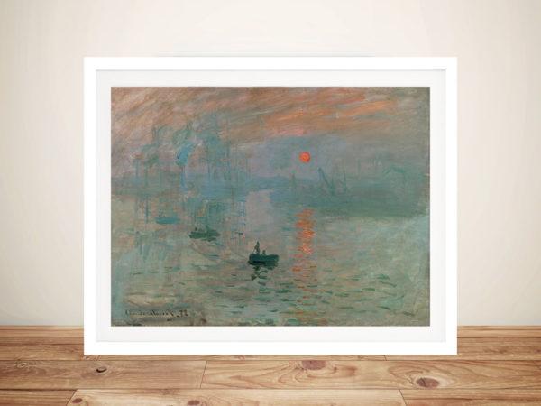 Monet Impression Sunrise Framed Wall Art
