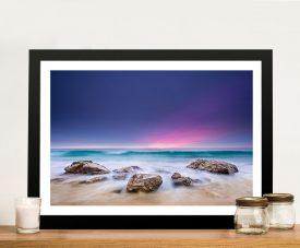 Purple Sunset Framed Wall Art Australia