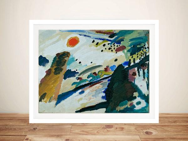 Wassily Kandinsky-Romantic_Landscape Framed Wall Art Melbourne
