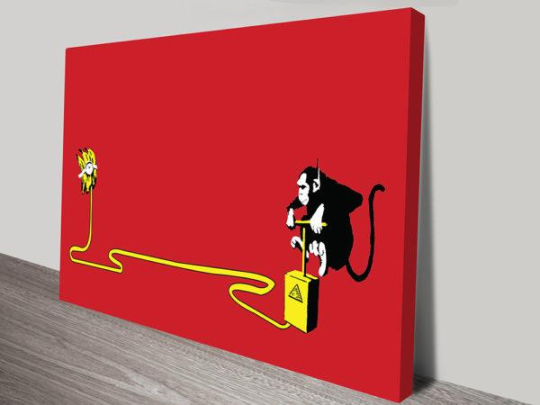 Monkey Detonator Banksy Artwork Canvas Wall Prints