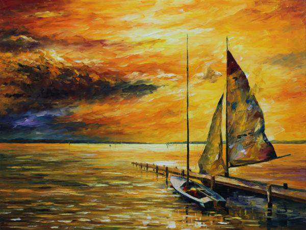 sailing to the future leonid afremov canvas art print Sydney